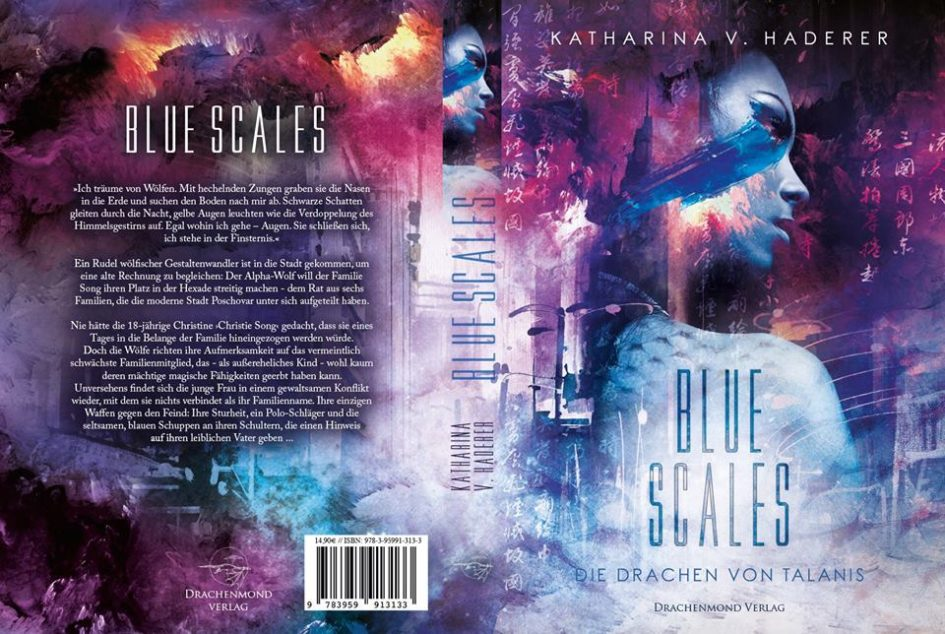 Buchcover mit Klappentext Blue Scales